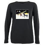 XmsDove/3 Horses (Ar) Plus Size Long Sleeve Tee