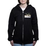 XmsDove/3 Horses (Ar) Women's Zip Hoodie