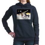 XmsDove/3 Horses (Ar) Women's Hooded Sweatshir
