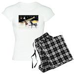 XmsDove/3 Horses (Ar) Women's Light Pajamas