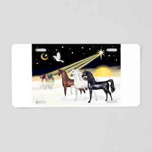 XmsDove/3 Horses (Ar) Aluminum License Plate