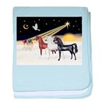 XmsDove/3 Horses (Ar) baby blanket