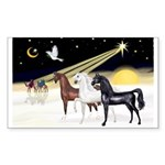 XmsDove/3 Horses (Ar) Sticker (Rectangle 50 pk)