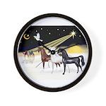 XmsDove/3 Horses (Ar) Wall Clock