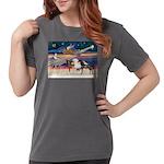 XmsStar/3 Horses (Ar) Womens Comfort Colors Shirt