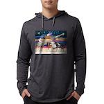 XmsStar/3 Horses (Ar) Mens Hooded Shirt