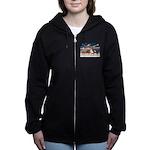 XmsStar/3 Horses (Ar) Women's Zip Hoodie