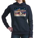 XmsStar/3 Horses (Ar) Women's Hooded Sweatshir