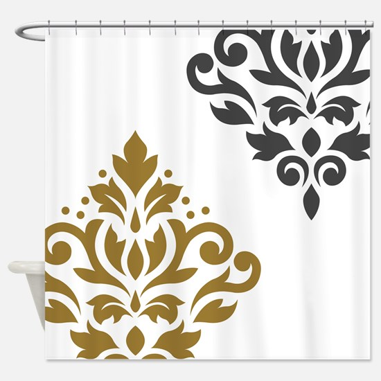 Scroll Damask Art I GGW Shower Curtain