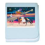 XmsStar/3 Horses (Ar) baby blanket
