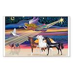 XmsStar/3 Horses (Ar) Sticker (Rectangle 50 pk)
