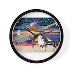 XmsStar/3 Horses (Ar) Wall Clock