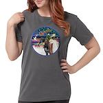 XmsMagic/3 Horses (Ar) Womens Comfort Colors Shirt