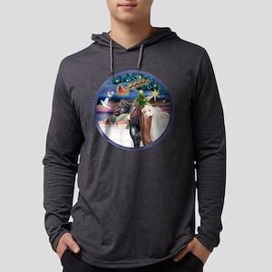 XmsMagic/3 Horses (Ar) Mens Hooded Shirt