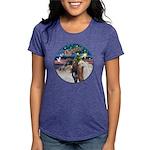 XmsMagic/3 Horses (Ar) Womens Tri-blend T-Shirt