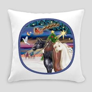 XmsMagic/3 Horses (Ar) Everyday Pillow