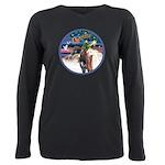 XmsMagic/3 Horses (Ar) Plus Size Long Sleeve Tee