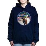 XmsMagic/3 Horses (Ar) Women's Hooded Sweatshi
