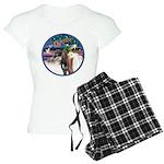XmsMagic/3 Horses (Ar) Women's Light Pajamas