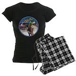 XmsMagic/3 Horses (Ar) Women's Dark Pajamas