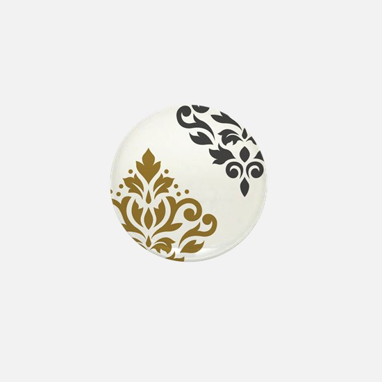 Scroll Damask Art I GGW Mini Button