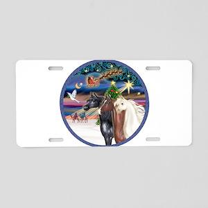 XmsMagic/3 Horses (Ar) Aluminum License Plate