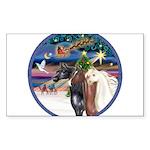 XmsMagic/3 Horses (Ar) Sticker (Rectangle 50 pk)