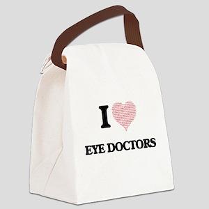 I love Eye Doctors (Heart made fr Canvas Lunch Bag