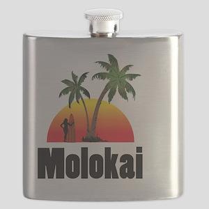 Molokai Surfing Flask