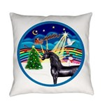 XmasMusic3/Horse (Ar-blk) Everyday Pillow