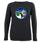 XmasMusic3/Horse (Ar-blk) Plus Size Long Sleeve Te