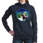 XmasMusic3/Horse (Ar-blk) Women's Hooded Sweat