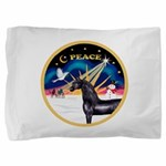 XmasSunrise-Peace-Arabian Horse (blk) Pillow S