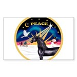 XmasSunrise-Peace-Arabian Horse (blk) Sticker