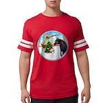 Take Off1/ Horse (Ar-blk ) Mens Football Shirt