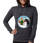 Take Off1/ Horse (Ar-blk ) Womens Hooded Shirt