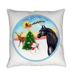 Take Off1/ Horse (Ar-blk ) Everyday Pillow