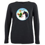Take Off1/ Horse (Ar-blk ) Plus Size Long Sleeve T
