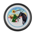 Take Off1/ Horse (Ar-blk ) Large Wall Clock
