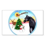 Take Off1/ Horse (Ar-blk ) Sticker (Rectangle 50 p