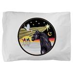 3 Wise Men -Arabian Horse (blk) - round Pillow