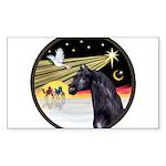 3 Wise Men -Arabian Horse (blk) - round Sticke