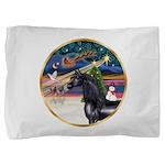 ORN-XmasMagic-HORSE-Arabian-Black Pillow Sham