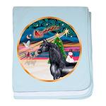 ORN-XmasMagic-HORSE-Arabian-Black baby blanket