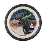 ORN-XmasMagic-HORSE-Arabian-Black Large Wall C