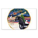 ORN-XmasMagic-HORSE-Arabian-Black Sticker (Rec