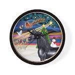 ORN-XmasMagic-HORSE-Arabian-Black Wall Clock