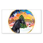 ORN-XmasMusic2-HORSE-Arabian-black Sticker (Re
