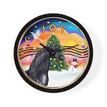 ORN-XmasMusic2-HORSE-Arabian-black Wall Clock