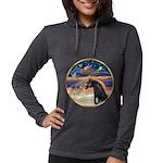 Xmas Star / Arabian Horse (bl Womens Hooded Shirt